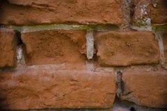 Текстура старой стены красного кирпича Стоковое Изображение RF