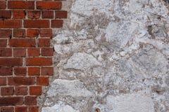 Текстура старой стены утеса для природы предпосылки Стоковая Фотография RF