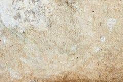 Текстура старой moldy бумаги с грязью пятнает, пятна, целлюлоза включений, коричневая предпосылка текстуры картона, grunge Стоковое фото RF