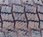 Текстура старых автошин автомобиля Стоковое Изображение RF