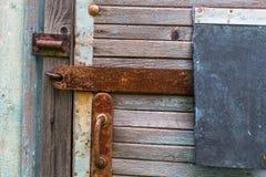 Текстура старых деревянных стены и двери планки Аннотация Стоковые Фото