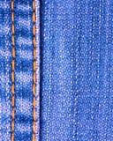 текстура стежком голубых джинсов Стоковое Изображение RF