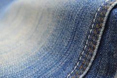 Текстура стежком джинсов Стоковое Изображение