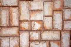 Текстура стены больших бежевых камней Стоковые Изображения