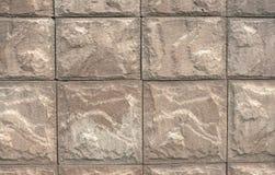 Текстура стены больших сер-коричневых камней (тонизированных в sepi Стоковое Фото