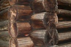 Текстура стены блокгауза Стоковые Изображения RF