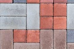 Текстура стены вымощая плиты других цветов для конструкции Смотреть на строительный материал стоковое изображение