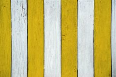 Текстура стены желтая деревянная для предпосылки Стоковое Фото
