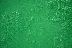 Текстура стены металла с старым покрытием краски которое балует под влиянием времени и weathe Стоковое Изображение