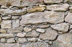 Текстура стены построена больших и малых камней Стоковая Фотография