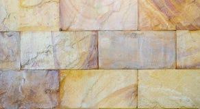 Текстура стены старого прямоугольника каменной для предпосылки Стоковая Фотография