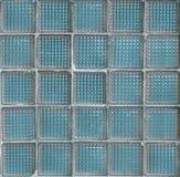 Текстура стены стеклянного блока Стоковое Фото