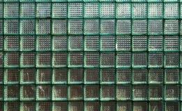 Текстура стены стеклянных квадратных блоков Стоковое Фото