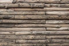 Текстура стены темного тона старая деревянная Стоковая Фотография RF