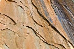Текстура стены утеса в перспективе Стоковое фото RF
