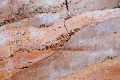 Текстура стены цвета песка каменного века оранжевая Стоковое Фото