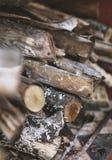 Текстура стога швырка Стоковые Фото