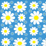 Текстура стоцветов безшовная на сини Стоковое Фото
