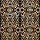Текстура сусального золота на черной предпосылке Дизайн ткани, обои Стоковое фото RF