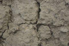 Текстура сухой глины с отказами Стоковая Фотография