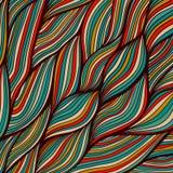 текстура с абстрактными волнами. Бесконечная предпосылка Стоковая Фотография RF