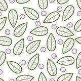 Текстура с абстрактными листьями Стоковое фото RF