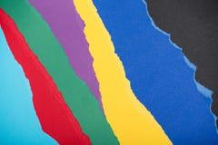 Текстура сделанная сорванных красочных бумажных частей Стоковые Изображения