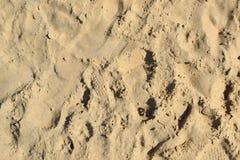 Текстура 2711 - следы ноги на пляже песка Стоковое Изображение RF