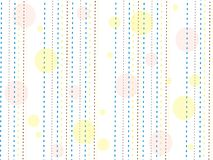 Текстура с желтыми, голубыми и коричневыми линиями и желтыми и розовыми точками на белой предпосылке Стоковые Изображения RF