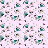 Текстура с цветками Стоковые Фото