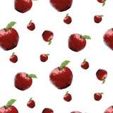 Текстура с яблоками Стоковая Фотография RF