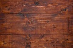Текстура темного коричневого цвета плоская деревянная Стоковое Изображение RF