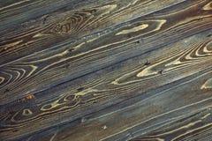 Текстура темной деревянной таблицы сбор винограда предпосылки черный Стоковое Фото