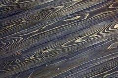 Текстура темной деревянной таблицы сбор винограда предпосылки черный Стоковые Фотографии RF