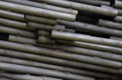 Текстура темной трубы металла Стоковые Изображения