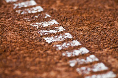 текстура тенниса суда глины Стоковые Фотографии RF