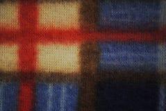 Текстура ткани ватки цветастая Стоковое Фото
