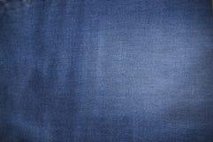 Текстура ткани голубых джинсов Стоковые Фотографии RF