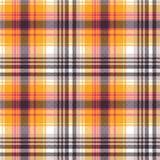 Текстура ткани оранжевого белого пиксела безшовная Стоковые Изображения RF
