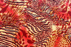 Текстура ткани печати striped леопард и зебра Стоковые Изображения RF