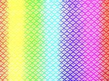 Текстура ткани полиэстера радуги Стоковые Изображения RF
