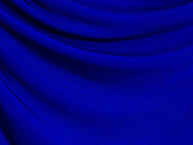 текстура ткани предпосылки голубая Стоковое Фото