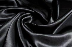 текстура ткани предпосылки черная Стоковое Изображение