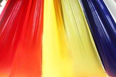 Текстура ткани радуги настолько красочная использовать украшение Стоковое фото RF