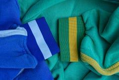 Текстура ткани 2 рукавов с нашивками стоковые фотографии rf