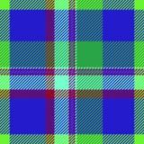 Текстура ткани цвета тартана Стоковая Фотография