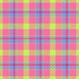Текстура ткани цвета тартана Стоковое Фото