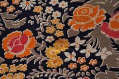 Текстура ткани цветка Стоковая Фотография