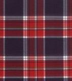 текстура ткани шотландки Стоковое Изображение