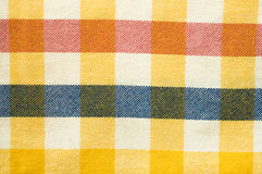 Текстура ткани, chequered картина Стоковые Изображения